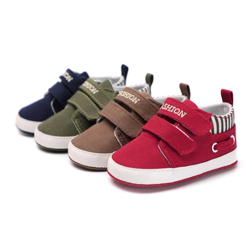 Infant Babies Boy Girl Shoes Sole Soft Canvas Solid Footwear