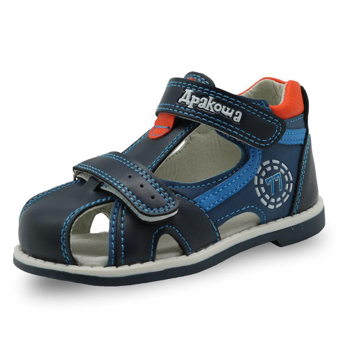 Apakowa 2020 summer kids shoes brand closed toe toddler boys sandals orthopedic