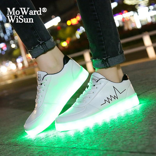 Children Casual Shoes With Lights USB Charge Luminous Sneakers for Kids Boys