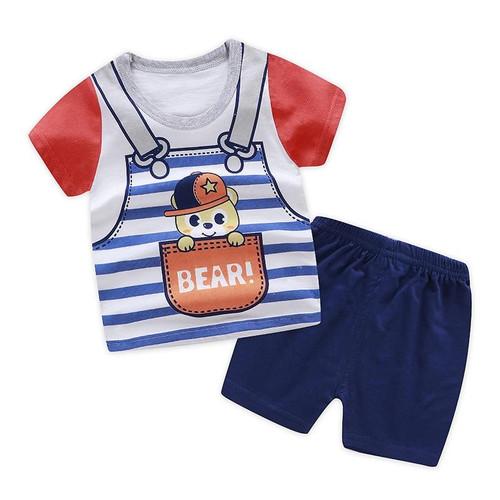 Hot sale summer baby boys clothes set fashion 100% cotton cartoon