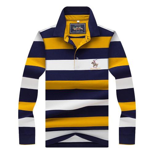 Hollirtiger 2020  Autumn Spring Mens POLO Shirt Male Turn-down Collar Cotton Polo