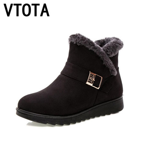 VTOTA Winter Women Snow Boots Warm Winter Boots Botas Mujer Ankle Boots For Women Fur Platform Wedges Boots Mother Shoes H154 - Joelinks store