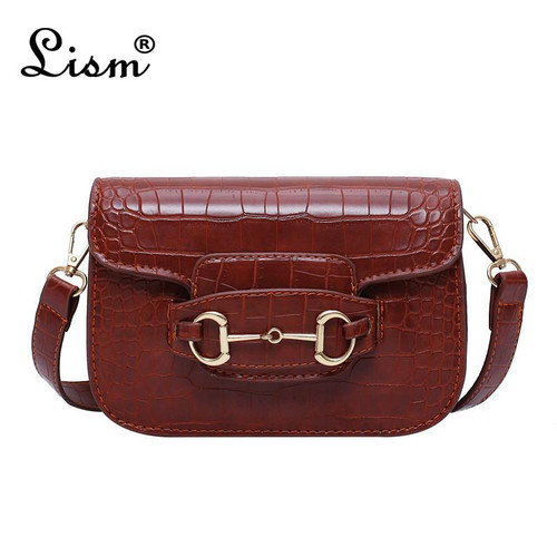 Famous brand women's bag 2020  ladies bag shoulder bag crocodile pattern bag