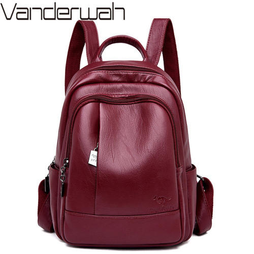 New Classic Women Backpack High Quality Leather Backpacks School Bags