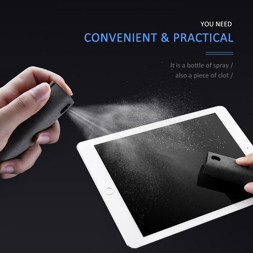 2 In 1 Portable Phone PC Screen Cleaner Microfiber Cloth Set Cleaning Artifact