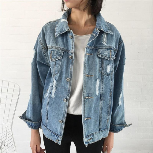 Women Basic Coat Denim Jacket Women Winter Denim Jacket For Women Jeans Jacket
