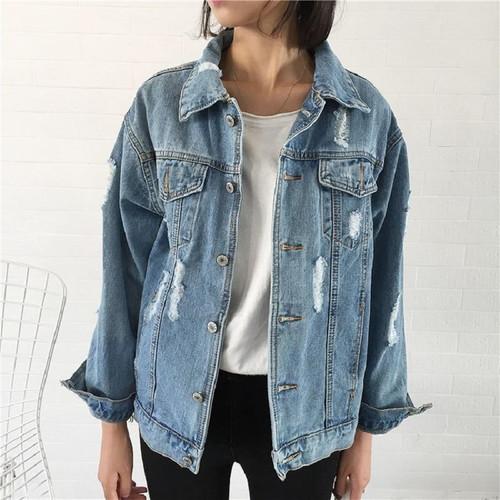 Women Basic Coat Denim Jacket Women Winter Denim Jacket For Women Jeans Jacket
