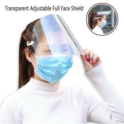 Transparent Adjustable Full Face Shield Plastic Anti-fog  Protective Fack Mask