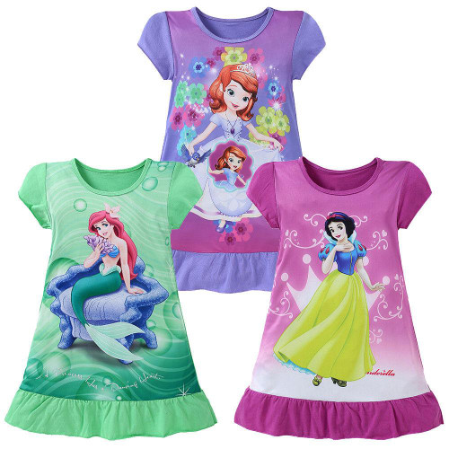 Baby girl clothes Girls Summer Dress Princess Dress Kids Cartoon