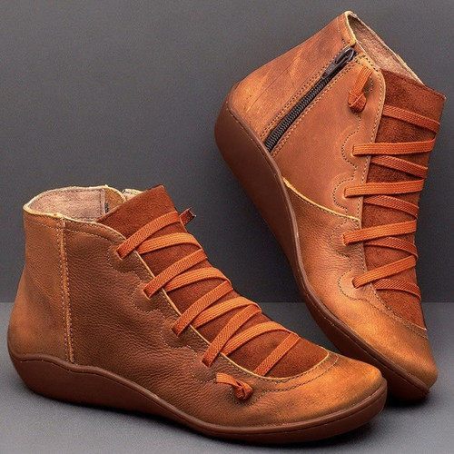 Women Boots Fashion Genuine Leather Ankle Boots