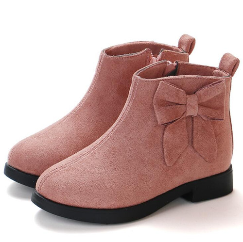 Girls Martin Boots Leather Sport Shoes For Girls Children Warm Boots