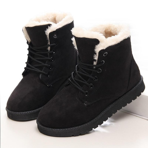 Women Boots Winter Super Warm Snow Boots Women Suede Ankle Boots For Female Winter Shoes Botas Mujer Plush Booties Shoes Woman - Joelinks store