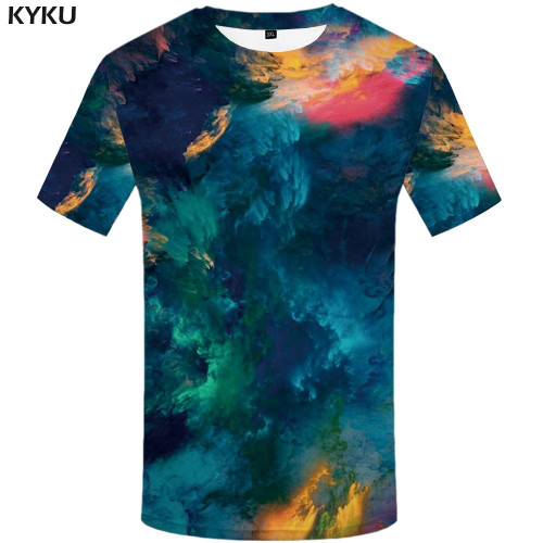3d Tshirt Van Gogh T-shirt Men Painting Funny T shirts Graffiti Anime Clothes Psychedelic Tshirts Casual Abstract Shirt Print