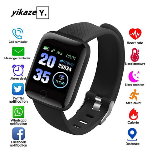 D13 Smart Watch Men Women Fitness Tracker Blood Pressure Wristband Heart Rate