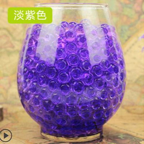 Purple Plant bonsai soil, Crystal Soil Plant Flower Jelly Mud Water Beads for Plants Pearls