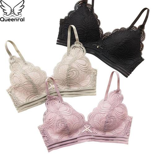 Queenral Lace Brassiere Bra Underwear Women BH Lingerie Sexy Bralette
