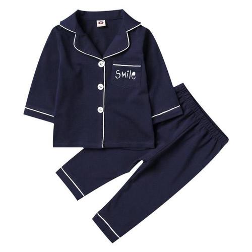 SAILEROAD Children's Long Sleeve Pajamas For Boys Cotton Pajamas Kids