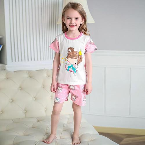 SAILEROAD Baby Girls Pajamas Set Children Cartoon Cute Lovely Girl Pajamas