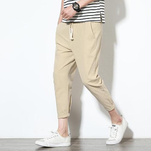 Men's Casual Pants Cotton Hip Hop Ankle-Length Men Pencil Pants