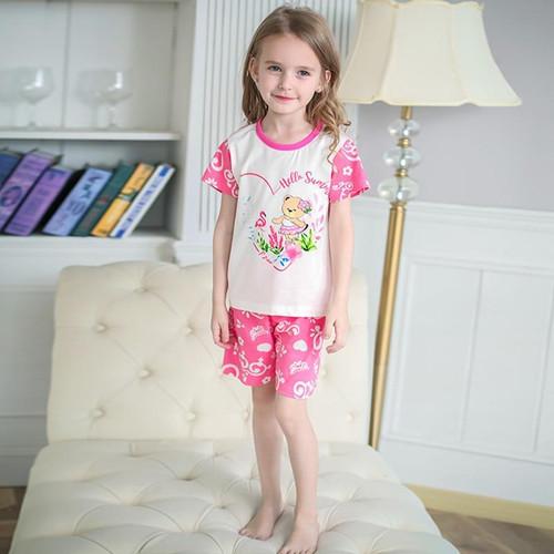 SAILEROAD 2020 New Summer Girls Pajamas Flamingo Flower Bear Pyjamas Kids