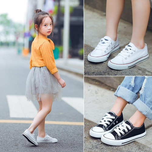 Children Classic white Canvas Shoes Kids Shoes