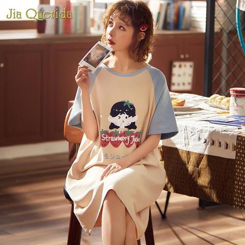 Night Dress Long Shirt Home dress Night Shirt Sleepwear Plus Size