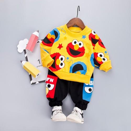 Boys Clothes Fashion Cartoon Boy Suit Set Casual Hot Sale