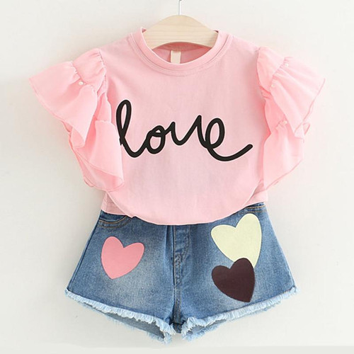 Clothing Sets Summer Toddler Girls Clothes 2pcs Outfits Kids Clothes For Girls