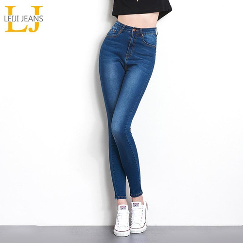 Jeans for Wome High Waist Jeans Woman High Elastic denim skinny pencil pants
