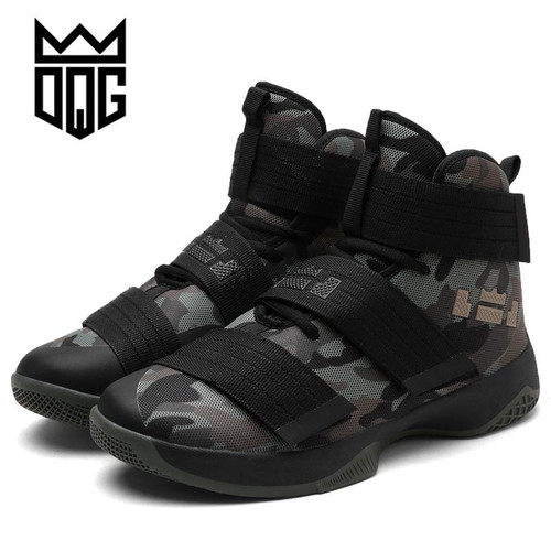 DQG Men's Basketball Shoes Air Damping Men Sports Sneakers High Top Breathable Nylon Trainers Shoes Men Outdoor Jordan Shoes - Joelinks store