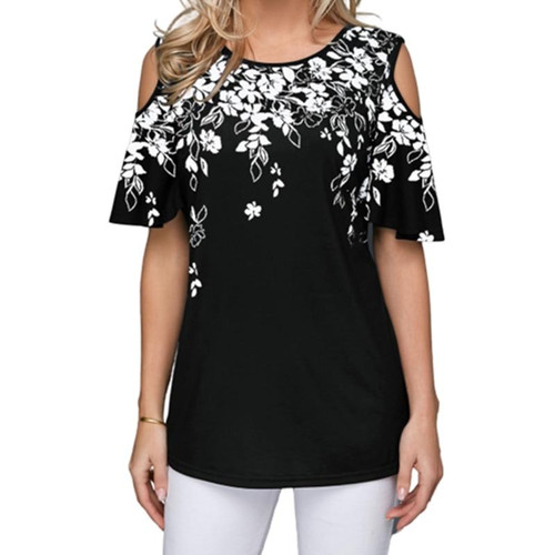 New 2020 Women Summer Loose T Shirt Casual Short Sleeve Tops