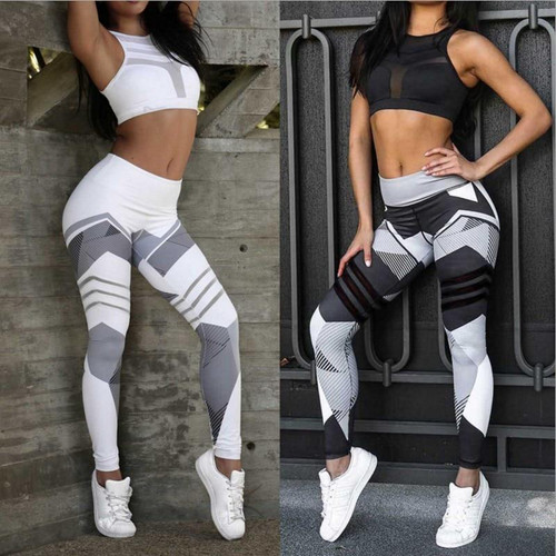 Print Sporting Leggings For Women Fitness Clothing High Waist Workout Pants