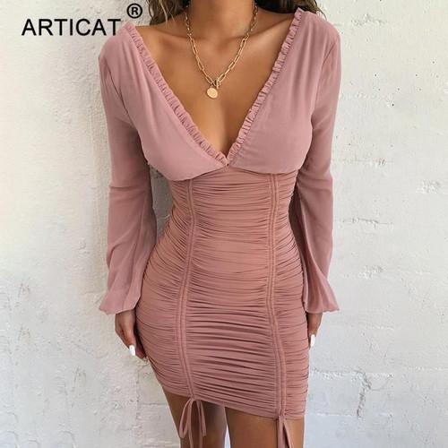 Articat Chiffon Summer Autumn Dress Women 2020