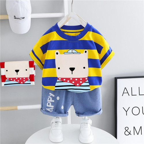 HYLKIDHUOSE Boys Clothing Sets Summer Toddler Infant Short Sleeve