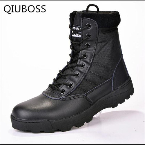 Boots Winter Military leather boots for men Combat bot Infantry tactical boots