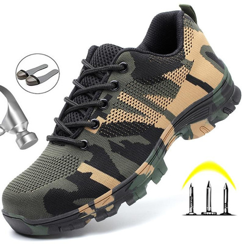 Construction Indestructible Shoes Men Steel Toe Cap Work Safety boot Safety Shoes