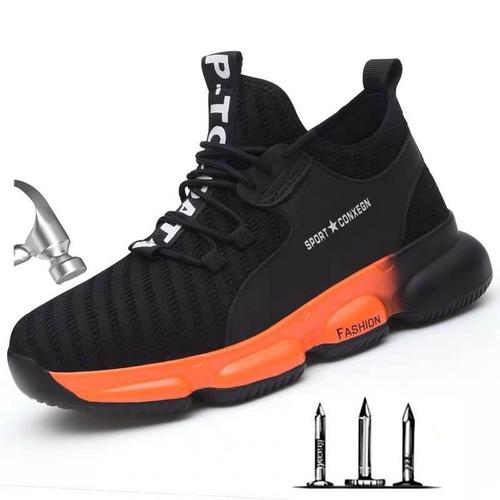 Men's Fashion Steel Toe Protective Anti Smashing Work Shoes