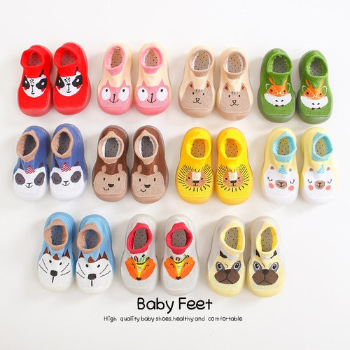 baby socks shoes Boy Girl Fashion Toddler Shoes Anti-Slip  Soft Rubber