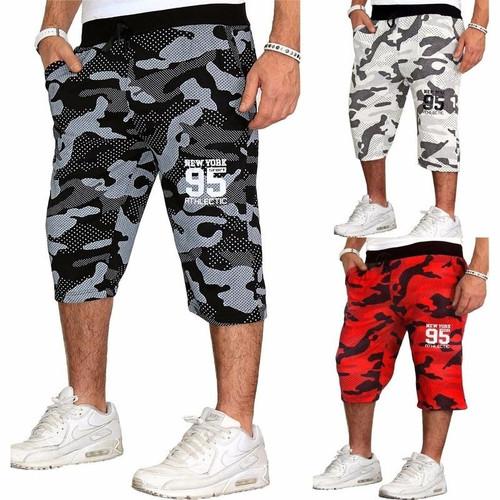ZOGAA Summer Men Shorts Print Camouflage Casual Shorts Fitness Beach