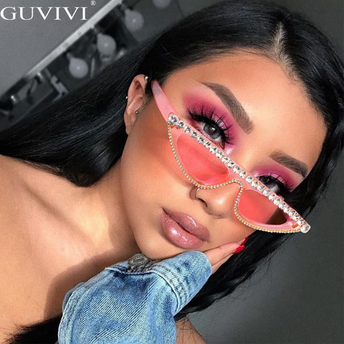 Cat Eye Sunglasses Women 2020 Luxury Diamond Sunglasses