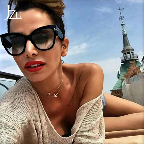 2020 New Brand Sunglasses Women T Fashion Black Cat Eye oversized Sunglasses