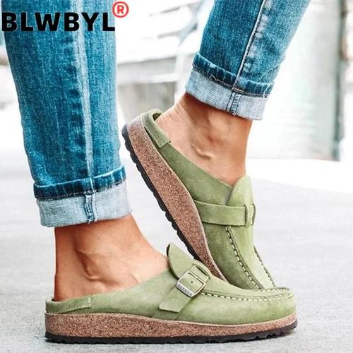 Flats Women Loafers Retro Shoes Slip On Ladies Comfort Platform
