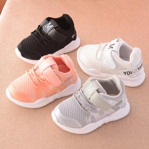 2018 autumn new fashionable net breathable pink leisure sports running shoes for girls white shoes for boys brand kids shoes - Joelinks store