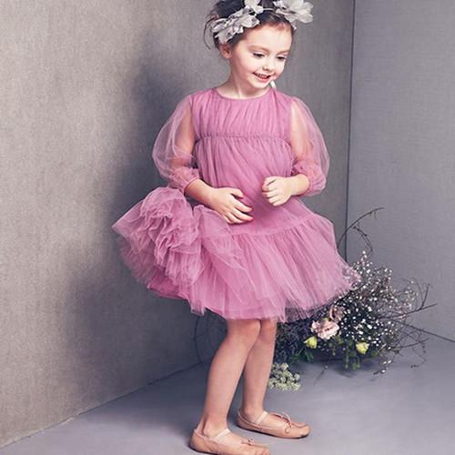 Kids Summer Dress for Girls 2020 Children Pink White Chiffon Frock Toddler