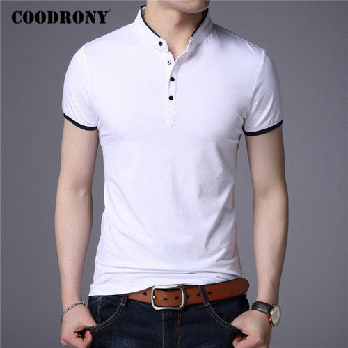 COODRONY Brand Summer Short Sleeve T Shirt Men Clothes Cotton