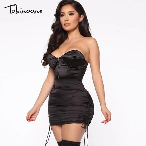 Sexy Dress Women Fashion Strapless Summer Party