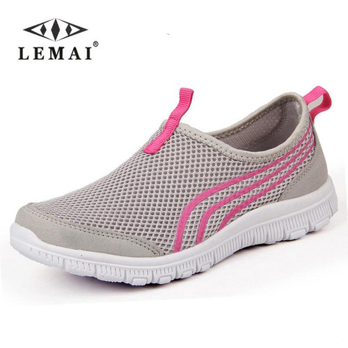 2018 New Women Light Sneakers Summer Breathable Mesh Female Running Shoes Men's Trainers Walking Outdoor Sport Comfortable - Joelinks store