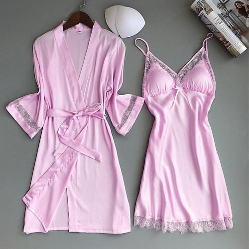 Rayon Kimono Bathrobe Sleepwear Casual Home Clothes Nightwear