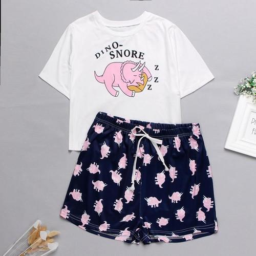 Womens Homewear Cute Cartoon Printed Pyjamas Nightwear