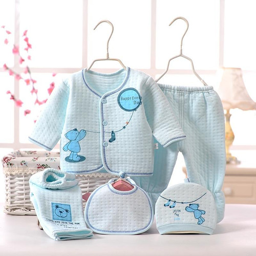 CYSINCOS Gift Newborn Baby Unisex 5pcs/sets Clothing Soft Cotton Set Infant underwear